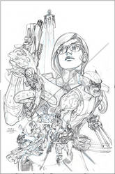 Infinity# 6 Hero Cover Pencil by TerryDodson