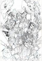 XMEN 10 Cover Pencils by TerryDodson