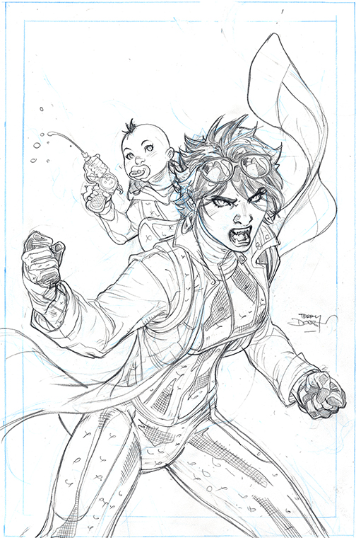 X-MEN #13 Cover Pencils by TerryDodson