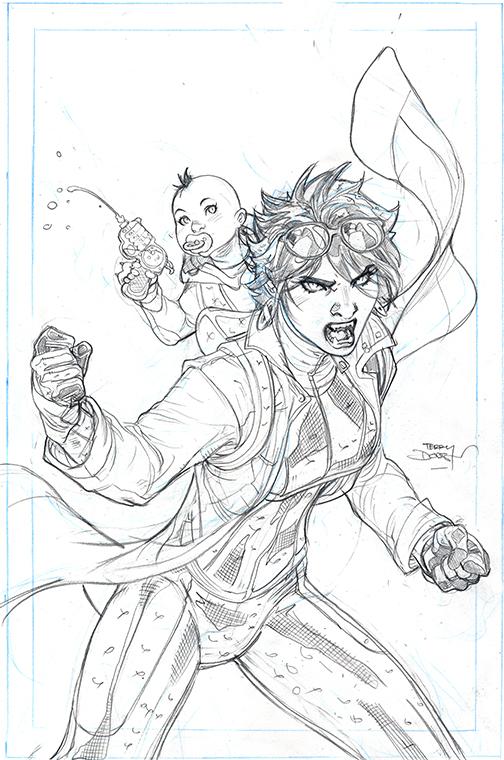 X-MEN #13 Cover Pencils by TerryDodson