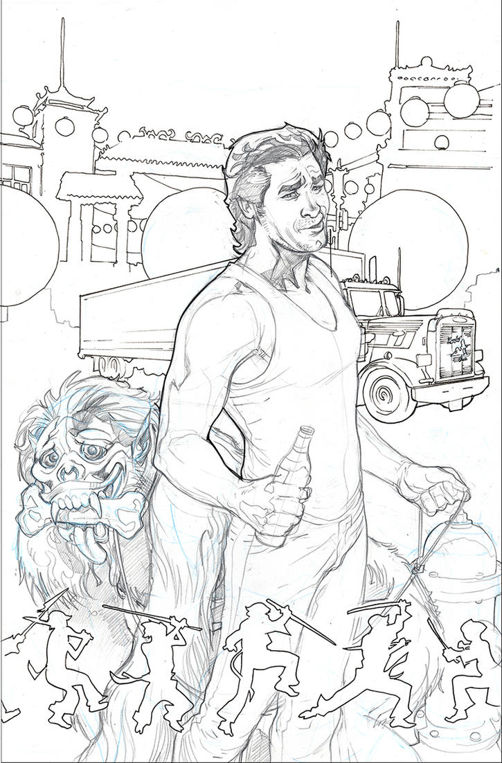 BIG TROUBLE IN LITTLE CHINA 1 Cover Linart by TerryDodson