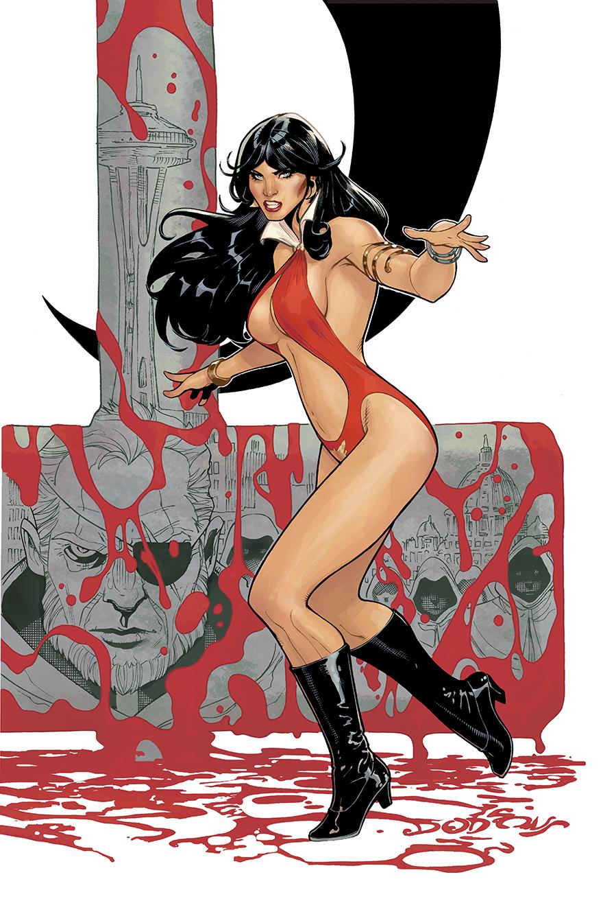 Vampirella 1 Cover by TerryDodson