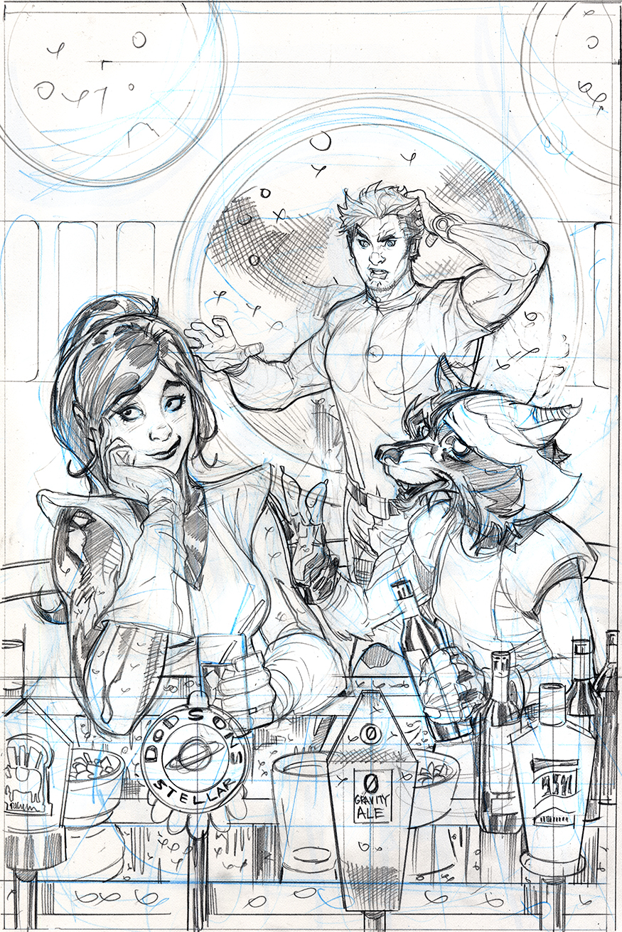 Star-Lord #1 Variant Cover Pencils by TerryDodson