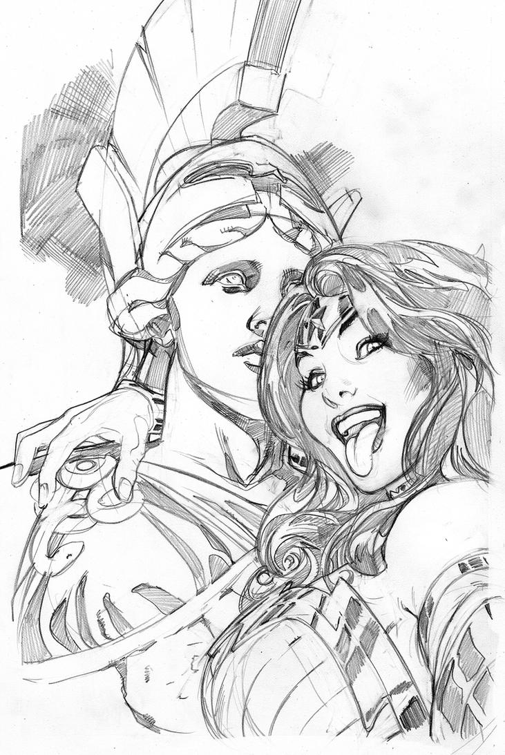 Wonder Woman #34 Selfie Variant Cover by TerryDodson