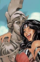 Wonder Woman #34 Selfie Variant Cover Color by TerryDodson