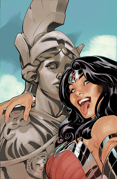 Wonder Woman #34 Selfie Variant Cover Color by TerryDodson