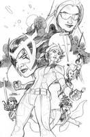 X-Men 21 Cover Pencils by TerryDodson