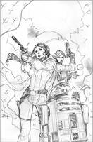 Star Wars: Princess Leia #3 Cover Pencils by TerryDodson