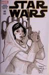 Princess Leia Sketch by TerryDodson