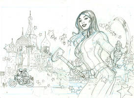 RED ONE Book 1 Cover Pencils by TerryDodson