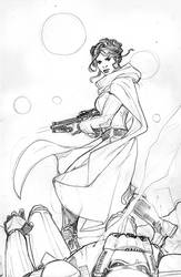 Star Wars: Princess Leia #5 Cover Pencils by TerryDodson