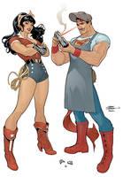 Wonder Woman Superman Bombshells Cover by TerryDodson
