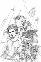 Star Wars: Shattered Empire 1 Variant Cover Pencil by TerryDodson