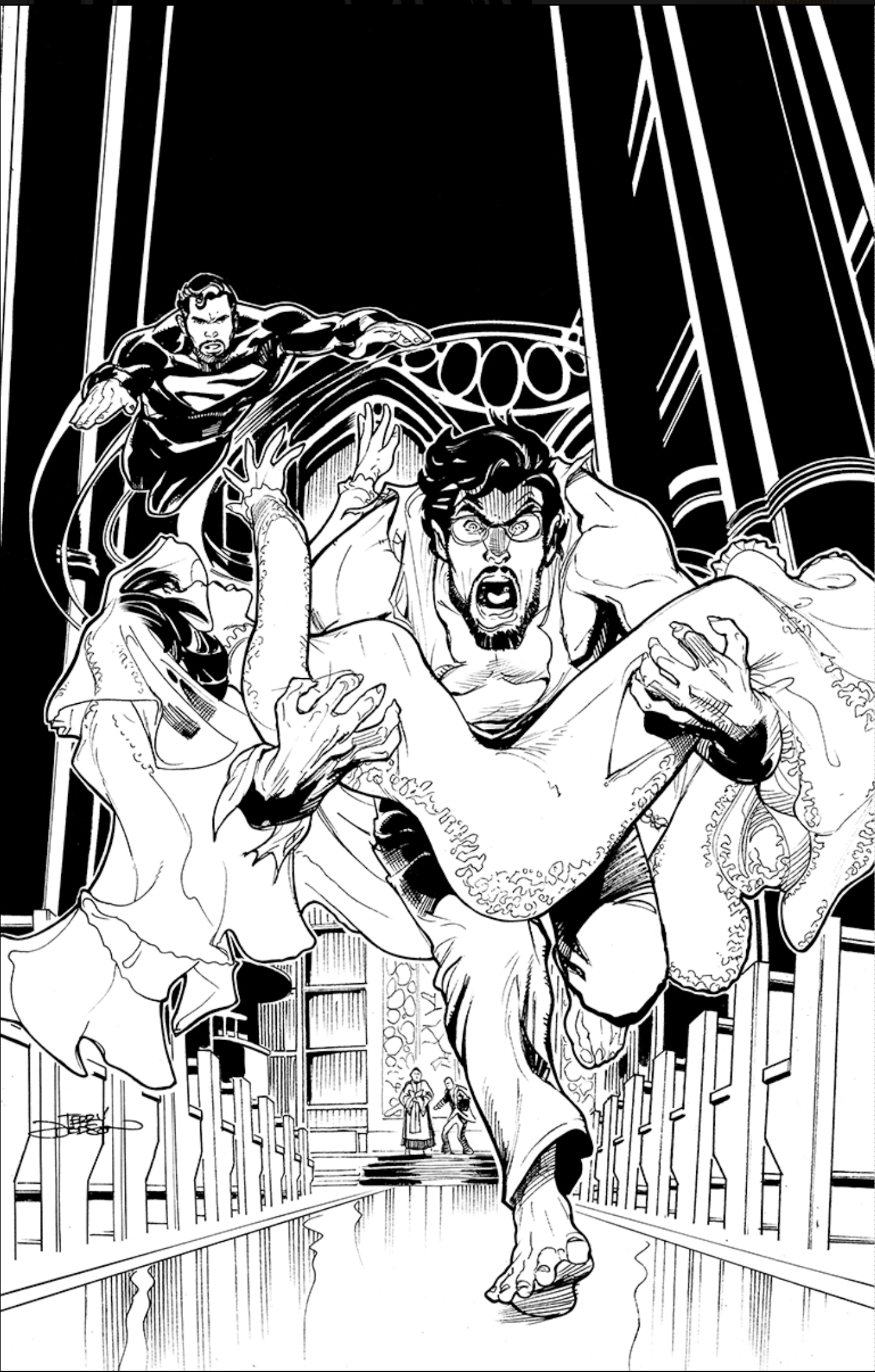 Lois and Clark #5 Cover inks