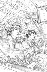 Star Wars 17 Cover Pencils by TerryDodson