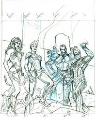 Civil War II #1 Cover Pencils