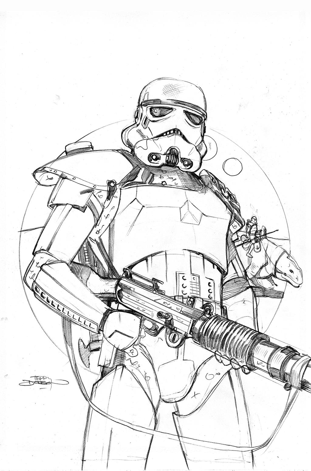 Star Wars 20 Cover Pencils by TerryDodson on DeviantArt