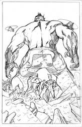 Totally Awesome Hulk 9 Cover Pencils by TerryDodson