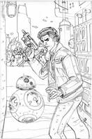 Star Wars: Poe Dameron 7 Cover Pencil by TerryDodson
