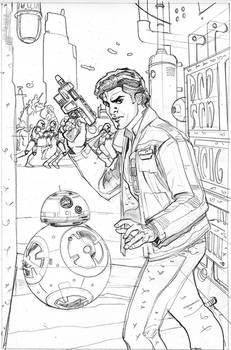 Star Wars: Poe Dameron 7 Cover Pencil