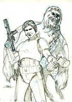 Star Wars #24 Cover Pencils by TerryDodson