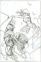 Spider-Gwen #14 Cover Pencils by TerryDodson