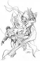 Justice League Vs Suicide Squad #2 Cover Pencils by TerryDodson