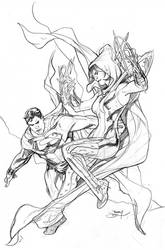 Justice League Vs Suicide Squad #2 Cover Pencils by TerryDodson