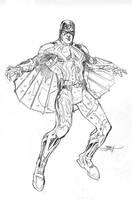 Inhumans Vs X-Men #1 Black Bolt Pencils by TerryDodson