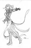 Inhumans Vs X-Men #2 Emma Frost Pencils by TerryDodson
