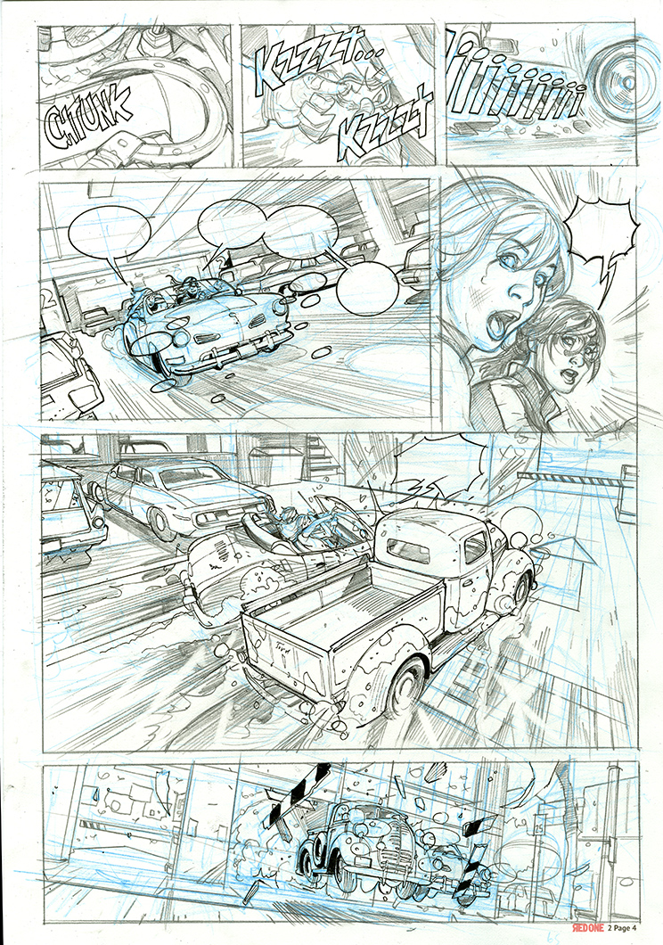 RED ONE Book 2 Undercover Page 5 Pencils by TerryDodson