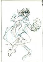 Inhumans Vs X-Men #3 Ms Marvel Pencils by TerryDodson