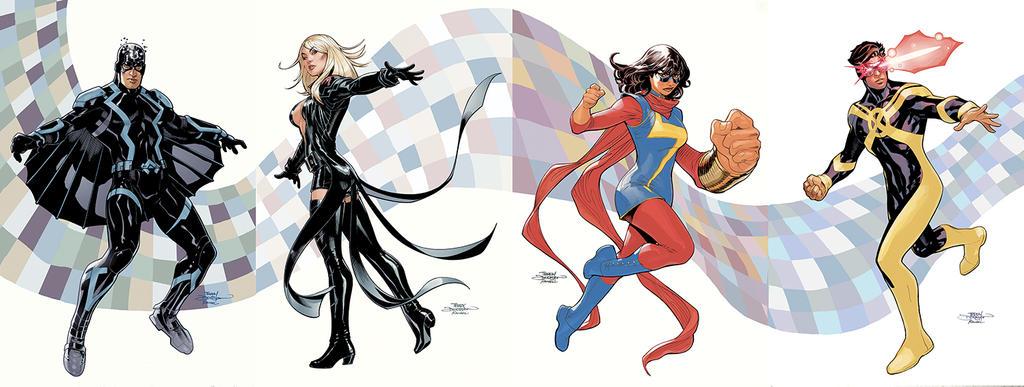 Inhumans Vs X-Men #1- #4