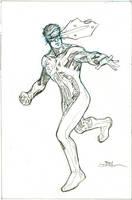 Inhumans Vs X-Men #4 Cyclops pencils by TerryDodson