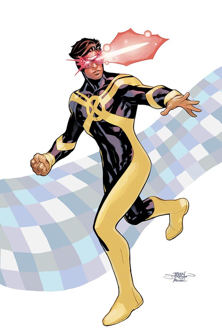 Inhumans Vs X-Men #4 Cyclops by TerryDodson
