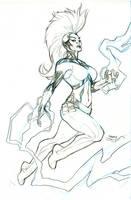 Inhumans Vs X-Men #6 Storm Pencils by TerryDodson