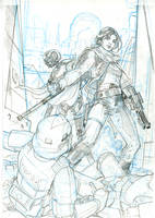 Rogue One #1 Variant Cover Pencil by TerryDodson