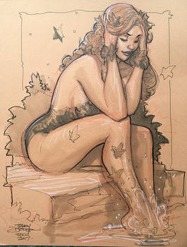 Poison Ivy SDCC 2017 Sketch by TerryDodson