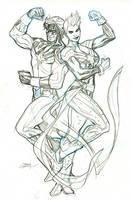 Captain Marvels Cover Pencils by TerryDodson