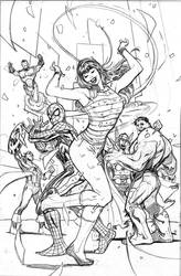 Legacy Party Variant Cover Pencils by TerryDodson