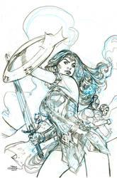 Wonder Woman 34 Cover Pencils by TerryDodson