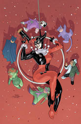 Harley Quinn 25th Anniversary Cover by TerryDodson