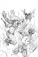Batgirl and The Birds of Prey 21 Cover Pencils by TerryDodson