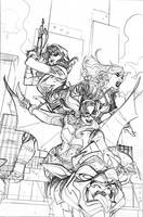 Batgirl and the Birds of Prey 22 Cover Pencils by TerryDodson