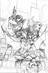Batgirl and the Birds of Prey 22 Cover Pencils