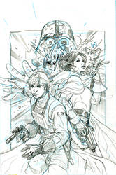 Star Wars 50 Cover pencils by TerryDodson