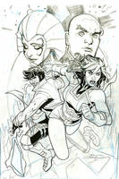 Mr. and Mrs. X #3 Cover Pencils/Partial Ink by TerryDodson