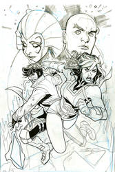 Mr. and Mrs. X #3 Cover Pencils/Partial Ink