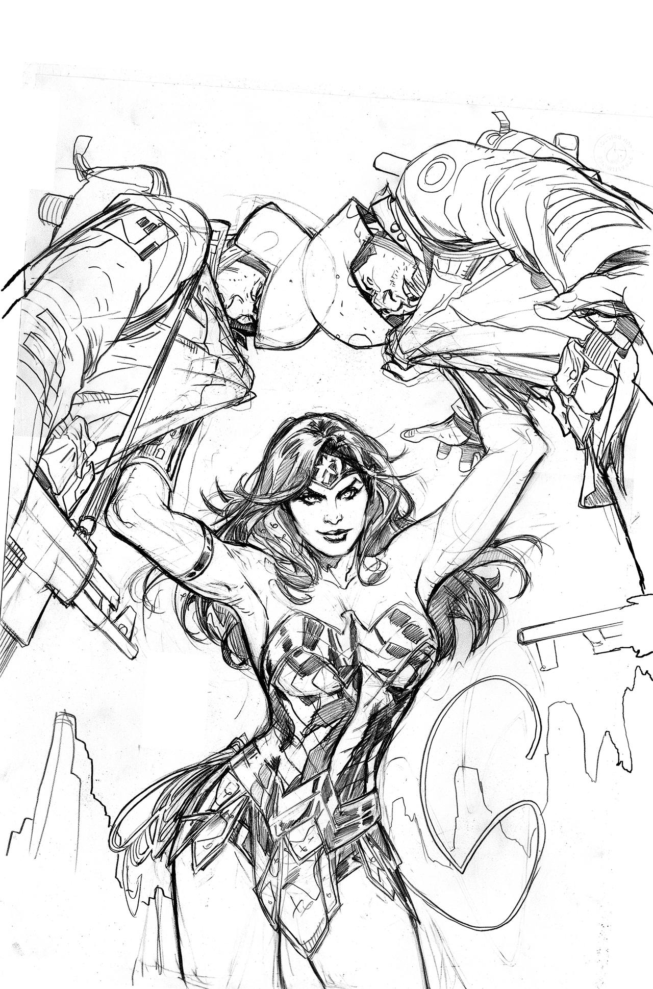 Wonder Woman 58 Cover Pencils by TerryDodson