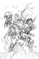 Wonder Woman 59 Cover Pencils by TerryDodson